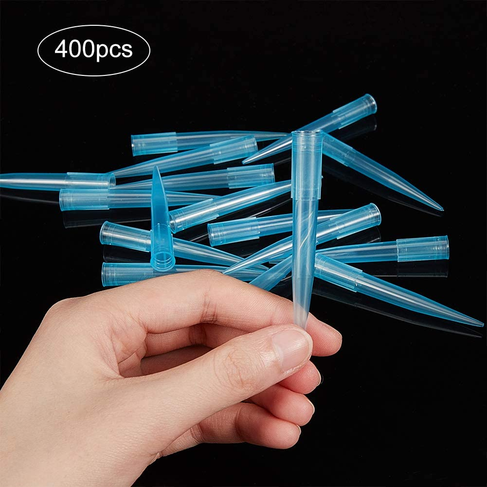 Pipettor Pipette Tips Clear Blue 1000ul//1ml for Lab Supplies Microchemical Experiment(Polypropylene) OLYCRAFT 400pcs Pipette Tips Plastic Pipettor Tip