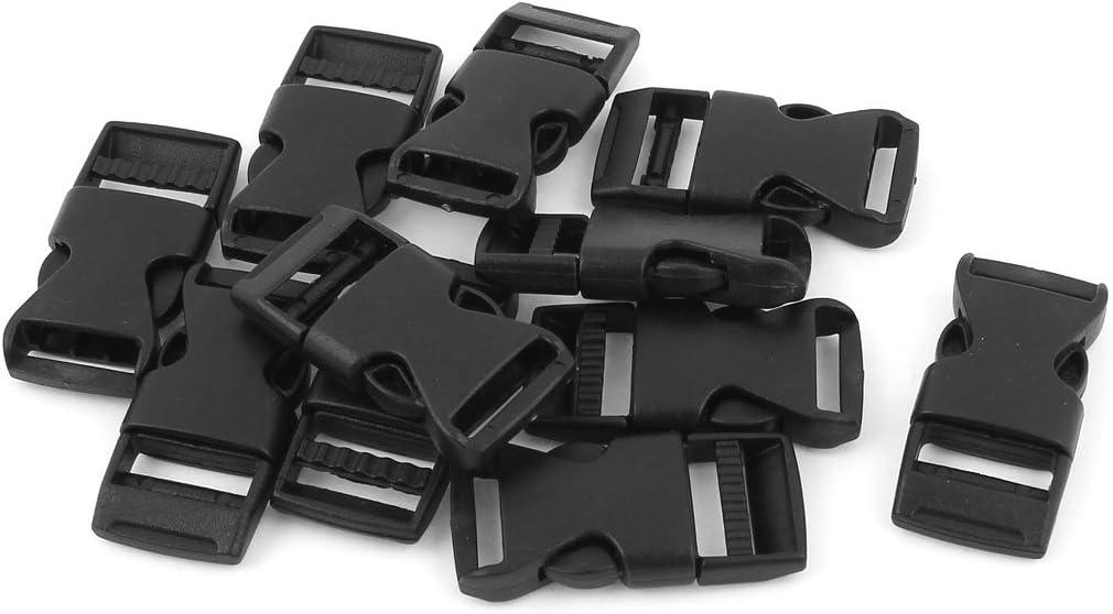 1 Inch,Black Coopay 15 Pack Buckle Adjustable Buckles Plastic Side Release Buckles