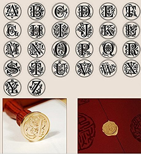 Luxury Vintage Alphabet Initial L Wood Gift Box Pack Engraved Wedding Invitation Classical Old-fashioned Antique Wax Seal Sealing Stamp Wax Sticks Melting Spoon Stamp Maker Gift Box Kit Set by MNYR (Image #3)