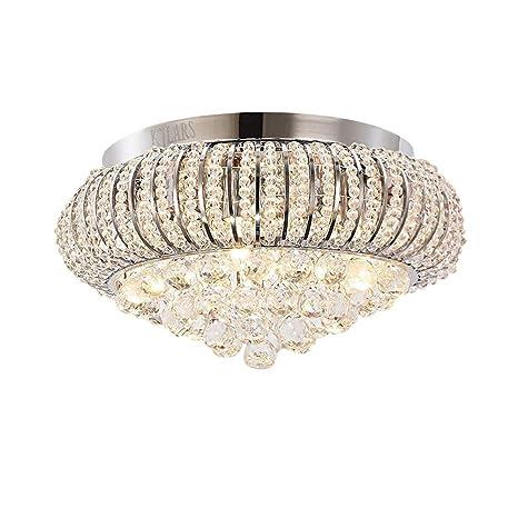 KJLARS Lámparas de cristal Lámpara del Techo Candelabro de ...