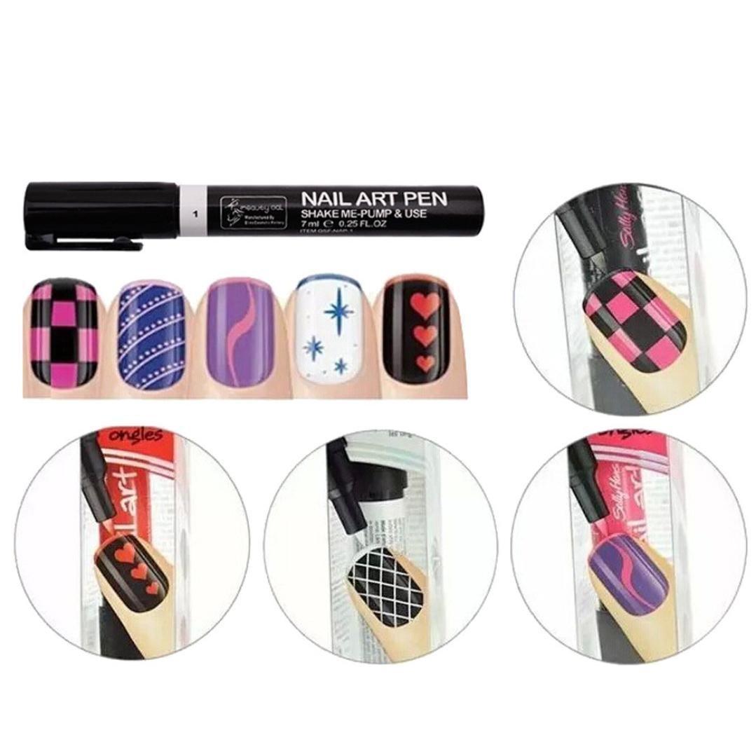 Tonsee 16 Colors Set Nail Art Pen For 3d Nail Art Diy Decoration