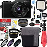 Panasonic LUMIX GX850 4K Mirrorless 16MP Black Digital Camera w/ 12-32mm F3.5-5.6 MEGA O.I.S. Lens Bundle includes 32GB microSDHC Memory Card, Tamrac Bag, Spider Tripod, 37mm Filter Kit, and More!