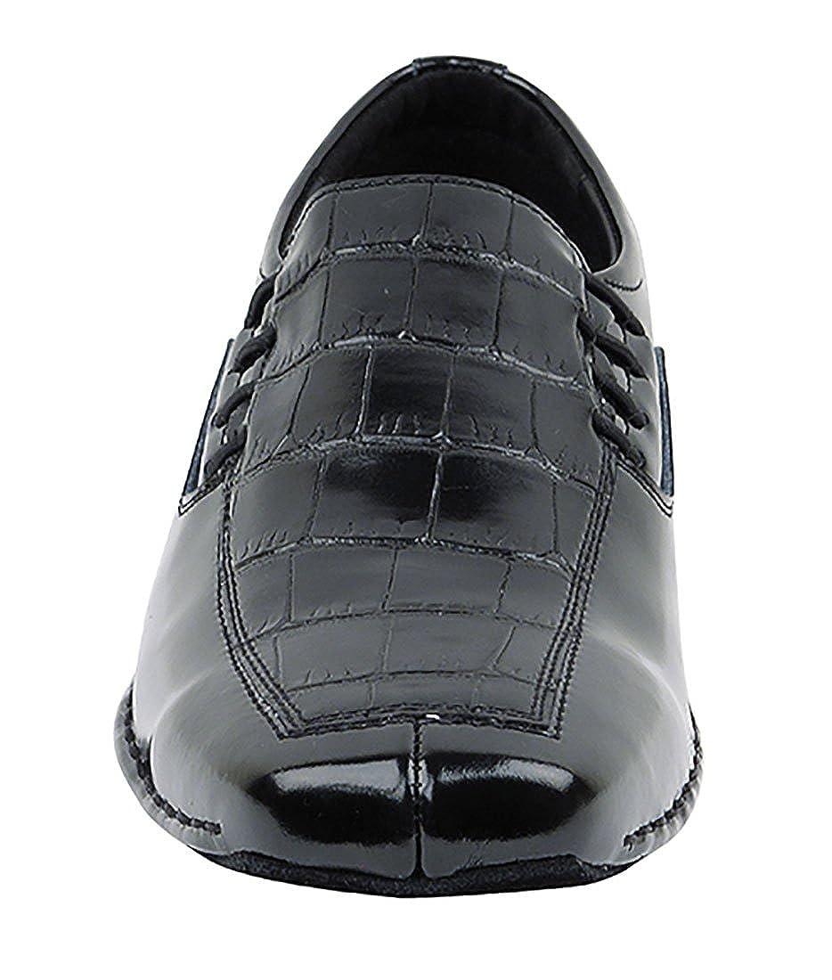 Very Fine Ballroom Latin Tango Salsa Dance Shoes for Men SERO102BBX Leather Flate Heel