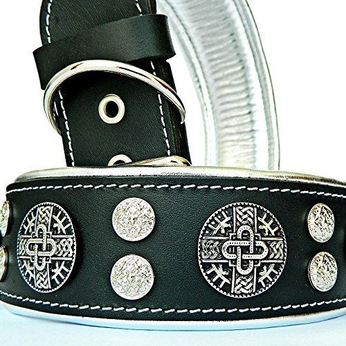 Bestia  Hektor  genuine leather dog collar, Large breeds, cane corso, redtweiler, Boxer, Bullmastiff, Dogo, Quality dog collar, 100% leather, 2.5 inch wide. padded. Hand made in Europe
