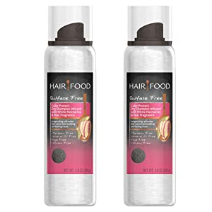 Hair Food Color Protect Dry Shampoo Infused with White Nectarine & Pear Fragrance 4.9 oz (2 Pack Dry Shampoo)