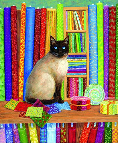 (Quilt Shop Cat 1000 pc Jigsaw Puzzle by SunsOut)