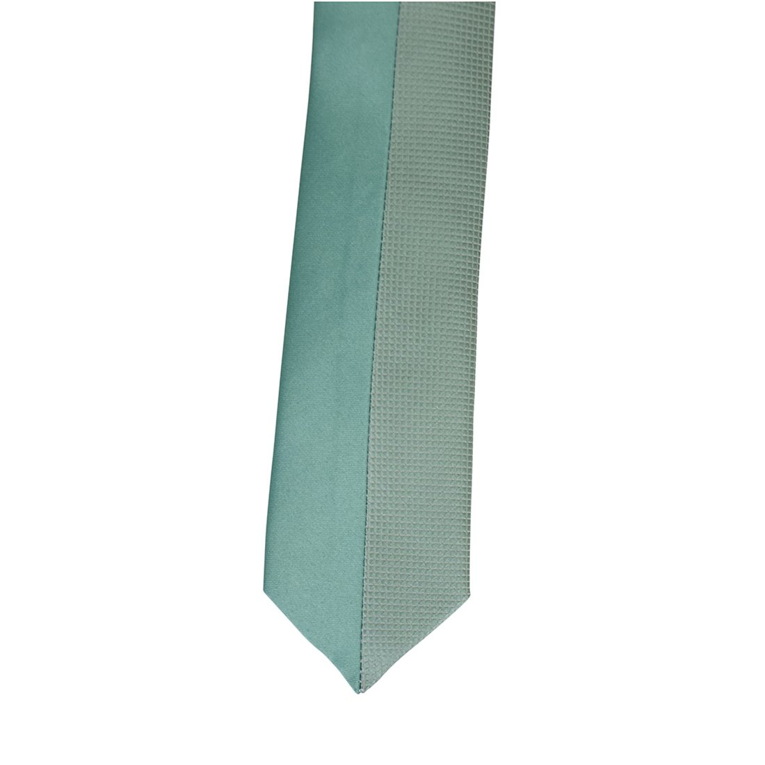 Textured Satin Youth Tie Junior Necktie Boys Tie agyt-yt07-moss