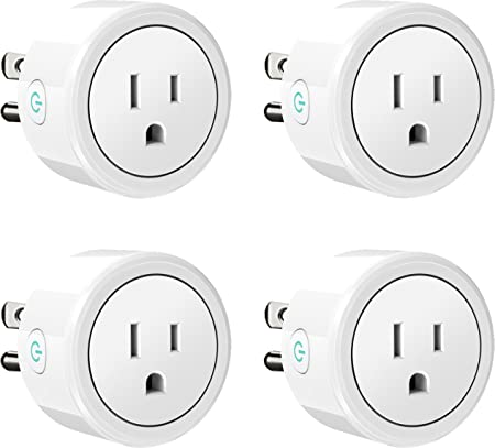 SELLERS360 WiFi Smart Plug Outlet Mini Wireless Socket Compatible with Amazon Alexa and Google Assistant Remote Pack of 4