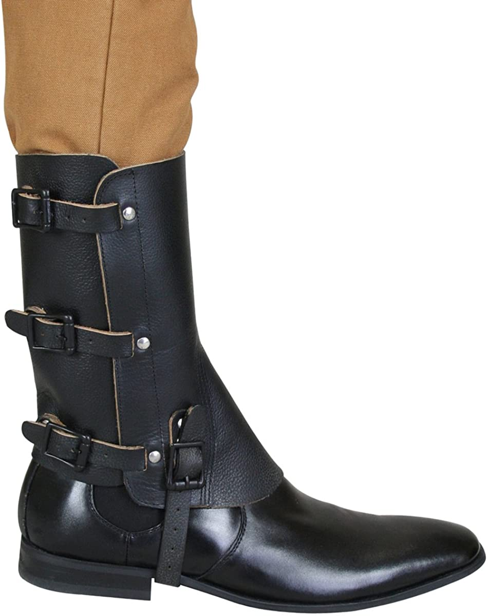 Steampunk Boots and Shoes for Men Historical Emporium Mens Deluxe Leather Military Gaiters $55.95 AT vintagedancer.com