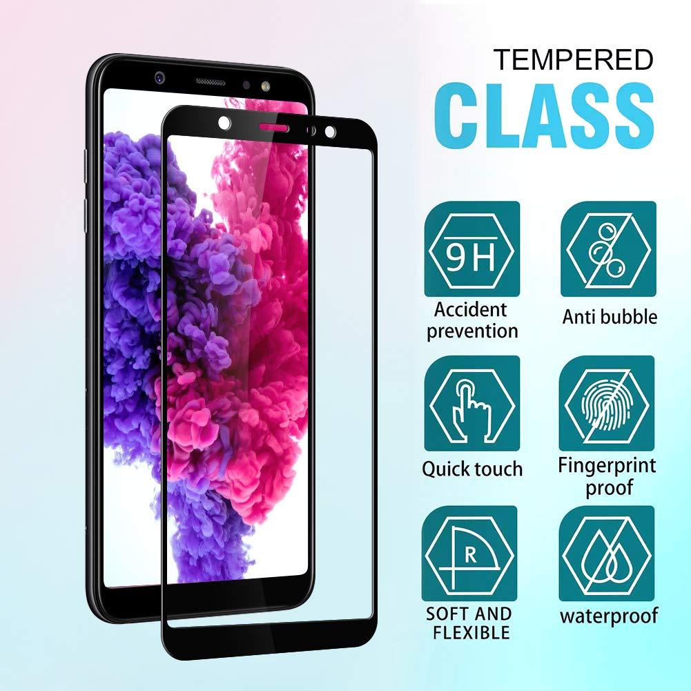 Flysee Cristal Templado Galaxy S9, 2 Unidades Alta Definicion, Sin Burbujas, 3D Curvo, 9H Dureza, Resistente a Ara/ñazos Protector de Pantalla para Samsung Galaxy S9