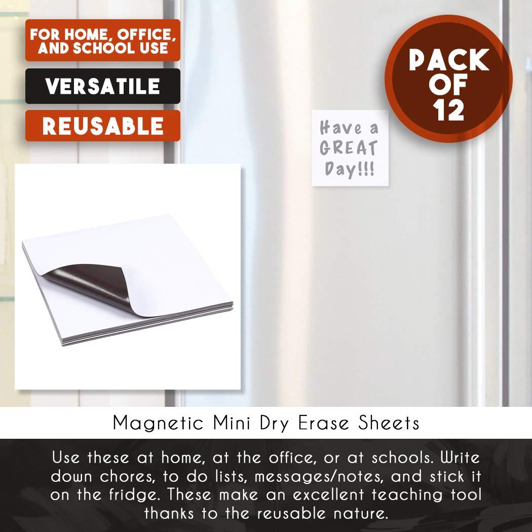 Amazon.com: Pizarra magnética de borrado en seco para nevera ...