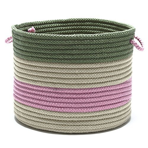 Grove Baskets Banded Basket, 19 by 19 by 15-Inch, Lily Green by Grove Baskets por Grove Baskets