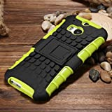Fantasy Cool Back Case For Htc One M8 Funny Mobile Phone Armor Cover Soft Tpu + Hard Plastic Anti-Slip With Kickstand For Htc M8 Green-Green