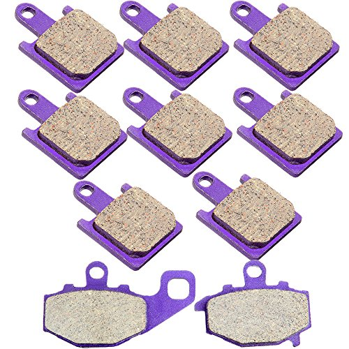 - Kevlar Carbon Brake Pads ECCPP Motorcycle Replacement Brake Pads Sets Front and Rear for 2007-2008 Kawasaki Ninja ZX6R ZX600P ZX600R