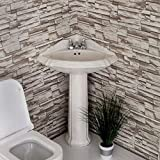 CORNER PEDESTAL SINK WHITE- RE1717W - NEW