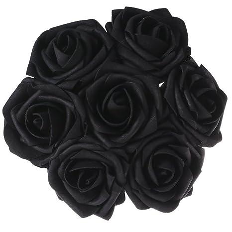 Bihood Flores Artificiales Falsas Rosas Negras Falsas Rosas Negras