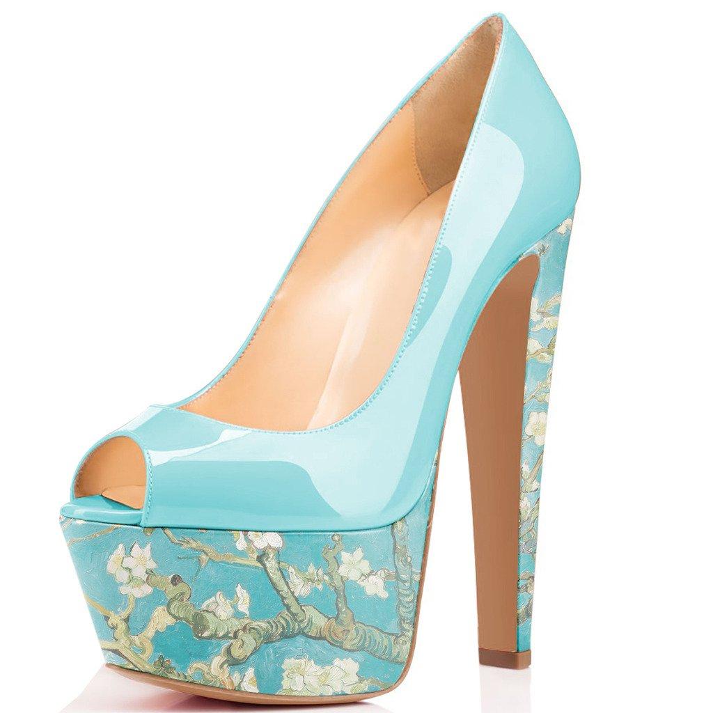 Where To Shop For FSJ Women Superb Chunky High Heels Peep Toe Pumps ...
