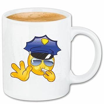 Taza párrafo café SONRIENTE cuando la policía SILVA Y GAFAS ...