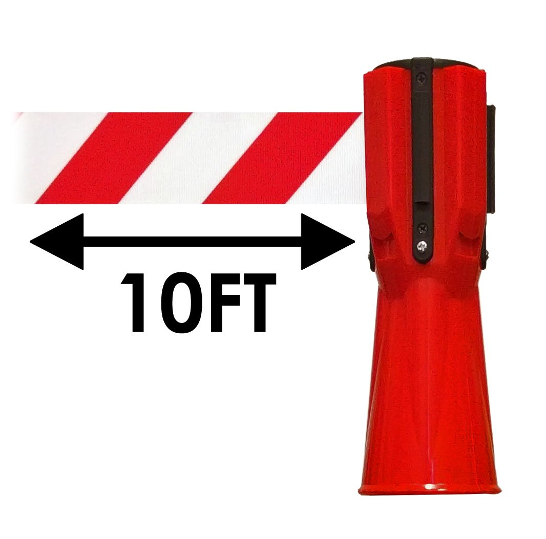 Traffic Cone Topper - 3 Meters / 10 Feet Retractable Safety Belt - Orange