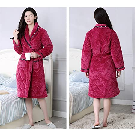SEX Bathrobe Women S Towelling Bath Robe Dressing Gowns Nightwear Housecoat  Lounge Wears With Pockets And Waist Belt  72666c5d2