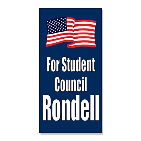 For student council elect vote election custom decal sticker retail store sign 9 5 x 24