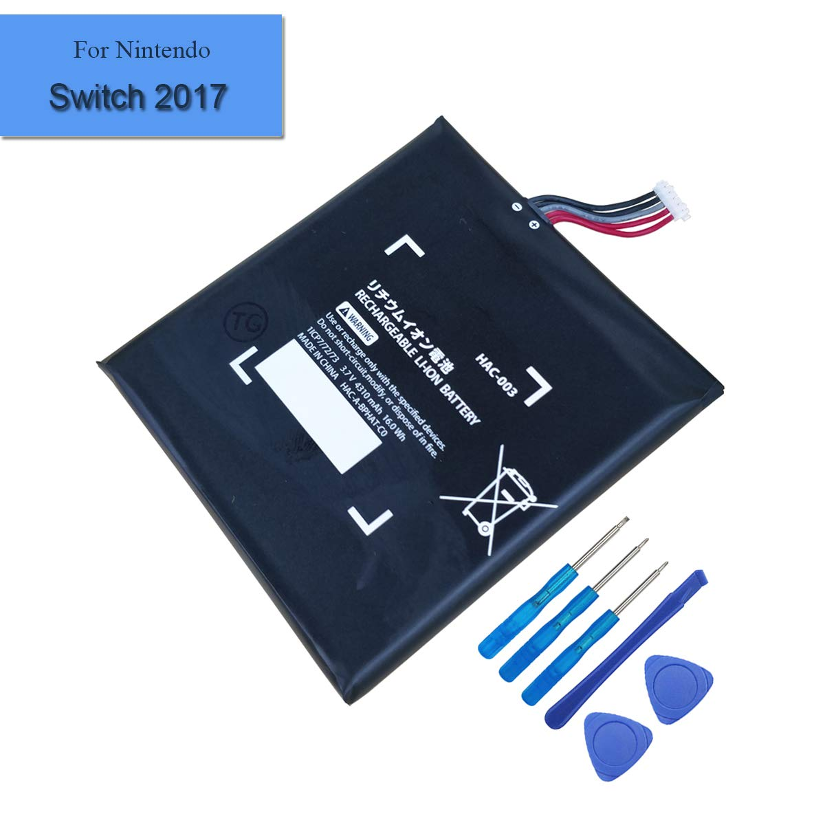 New Replacement HAC-003 Battery Compatible with Nintendo Switch Game Console 2017 Internal Battery 4310mAh 3.7V by E-YIIVIIL