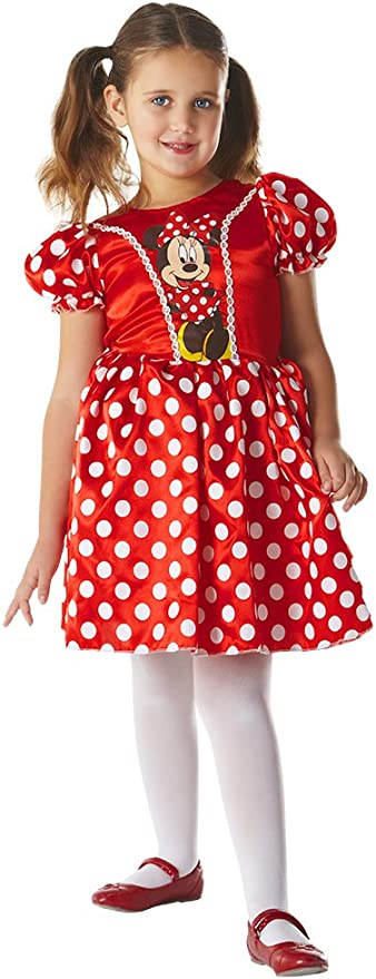 Disney - Disfraz de Minnie Mouse clásico para niña, infantil 5-7 ...