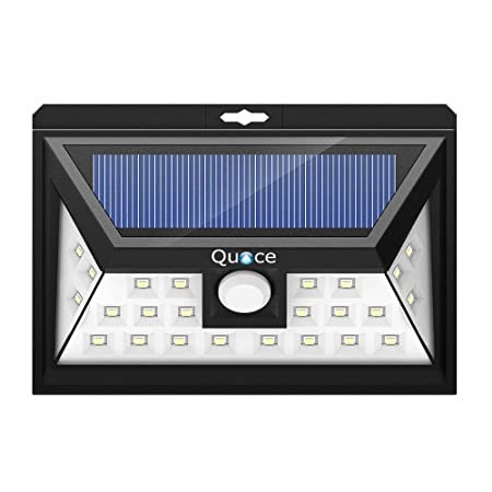 Quace 24 LED Motion Sensor Security Solar Light (Black, Plastic)