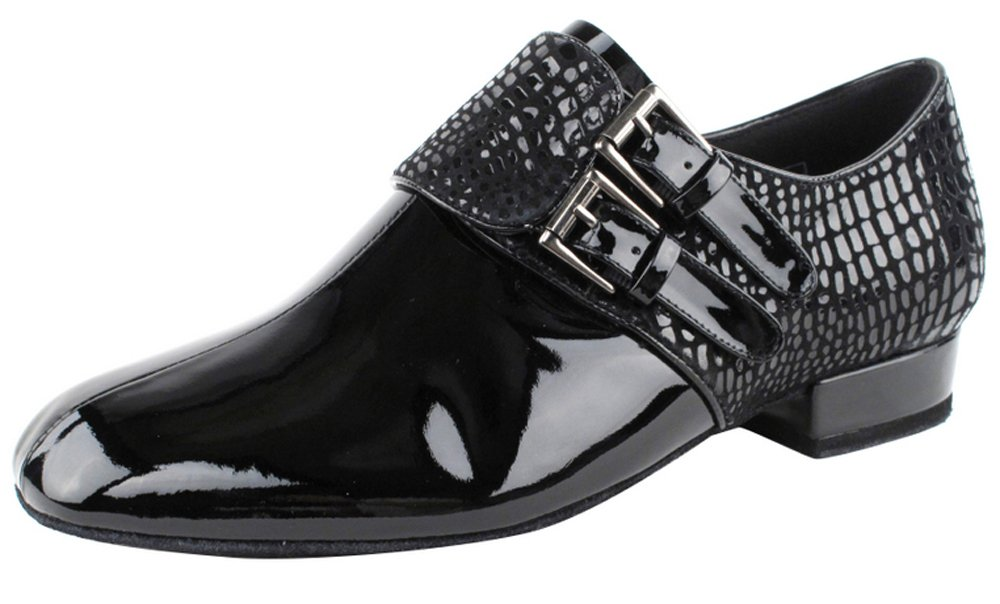 Very Fine Shoes Men's Standard & Smooth Competitive Dancer Series CD9006B Black Patent Shoes (8)