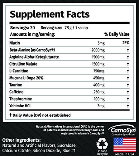 The Original Alpha Alpha Gx7 Pre-Workout, Blue Raspberry, 237 grams