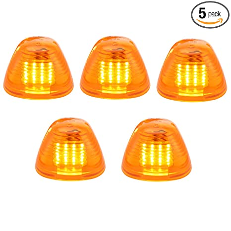 Amber Lens Yellow LED Cab Roof Top Marker Lamps Clearance Running Lights Assembly For 1999-2016 Ford F-250 F-350 F-450 F-550 Super Duty 2017 2018 E-350 E-450 Super Duty Pickup Truck