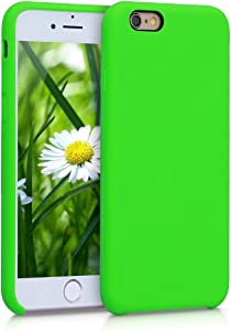 kwmobile TPU Silicone Case Compatible with Apple iPhone 6 / 6S - Soft Flexible Rubber Protective Cover - Lime Green