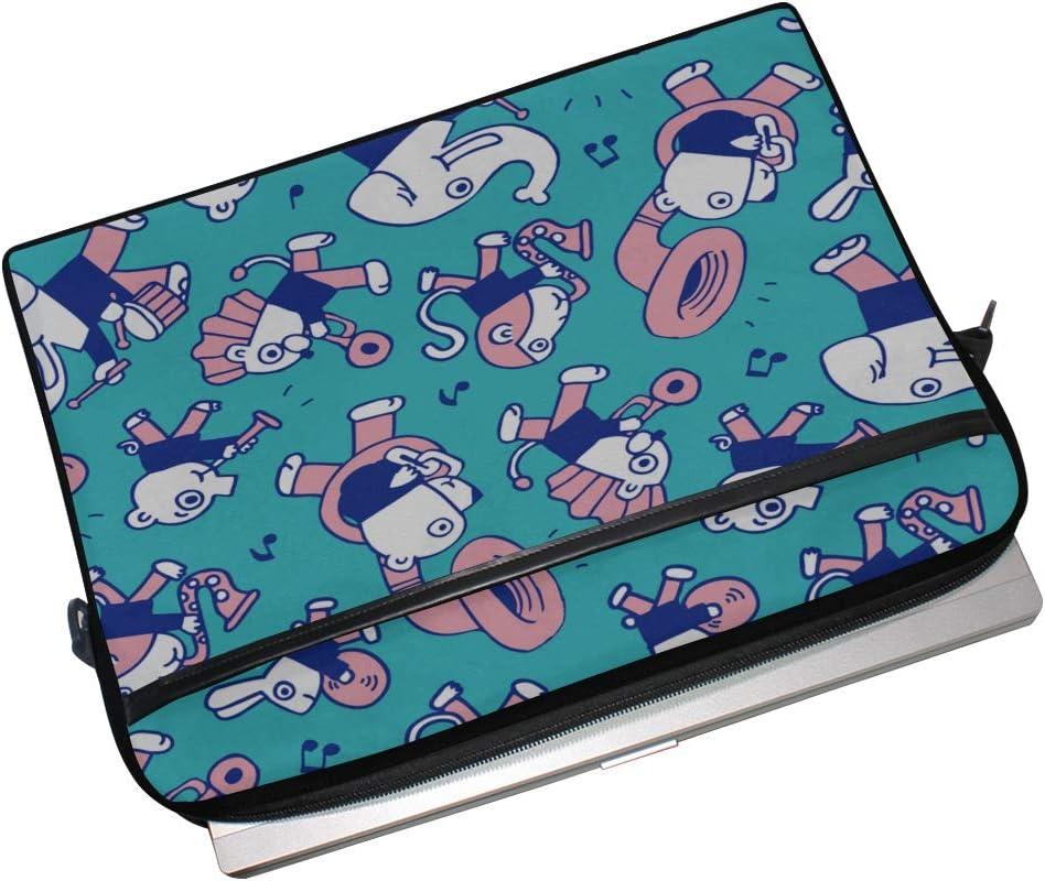 Laptop Bag Animal Play Music 15-15.4 Inch Laptop Case College Students Business People Office Worker Briefcase Messenger Shoulder Bag for Men Women