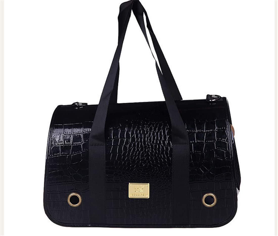Black L(petupto7kg)SHINING KIDS Soft Sided Pet Carrier Portable Hand Bag Small Dog And Cat Transport Foldable