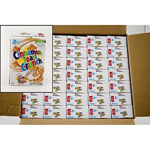 General Mills Cinnamon Toast Crunch Cereal, 1-Ounce Single Serve Box (Pack of 70) by General Mills
