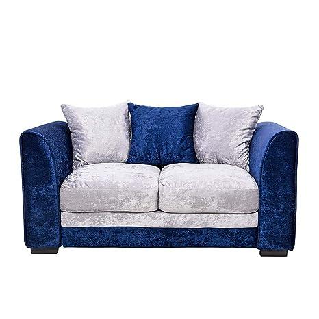 MUKE 2 sofás con 3 Almohadas de Tela, sofá Azul Rey: Amazon ...