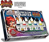 Super Dungeon Explore Miniature Painting Kit - 10 Warpaint Bottles Model Paint Set with 1 Highlighting Brush, 1 FREE Assembled Miniature and Painting Guide - Super Dungeon Paint Set by The Army Painte