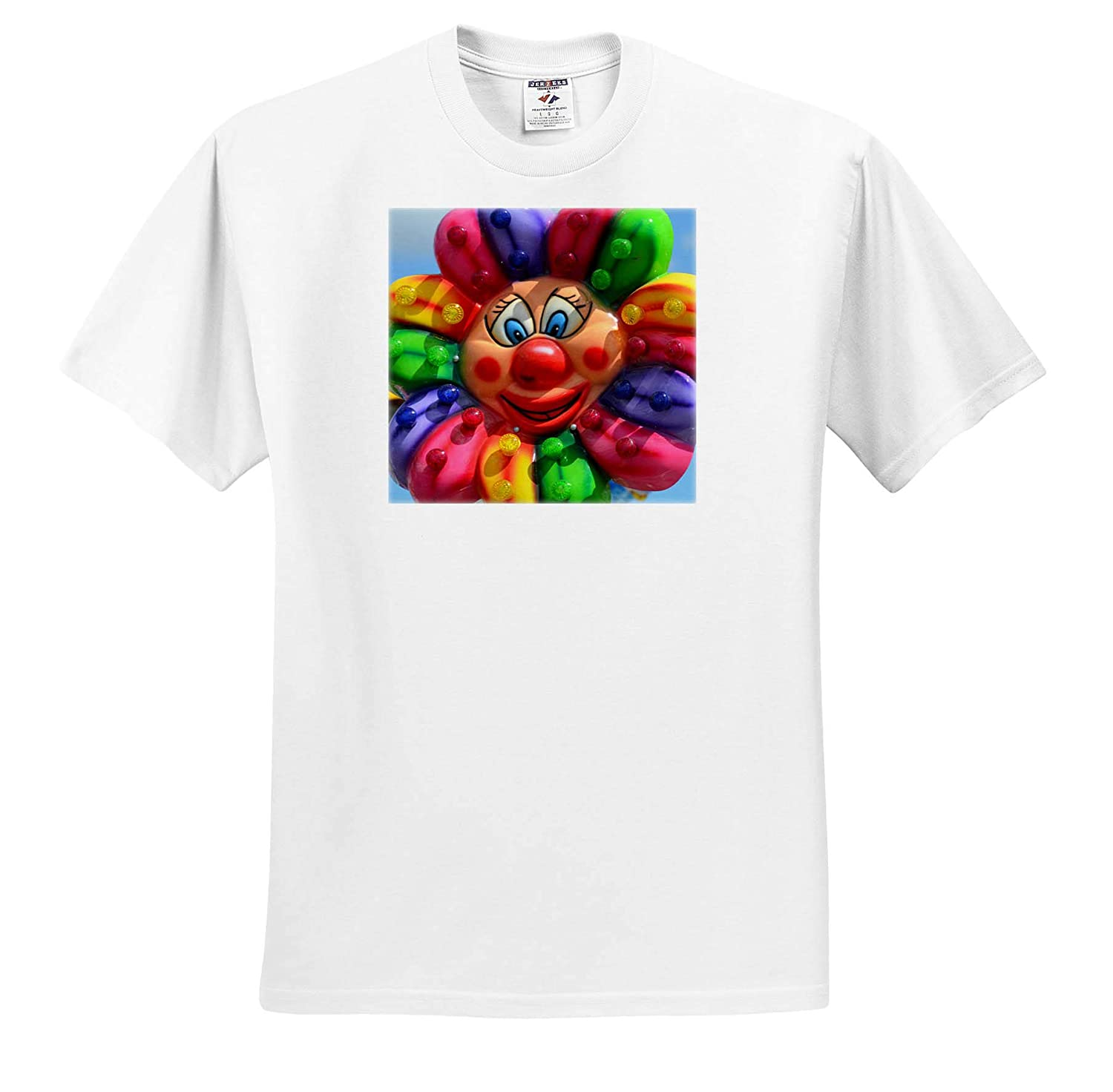 Crazy Colorful Plastic Flower T-Shirts 3dRose Susans Zoo Crew Scenery