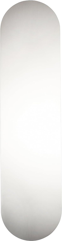 350 x 75 mm T/ür-Fingerdruckplatte Edelstahl runde Kanten selbstklebend MwSt-Registriert satiniert