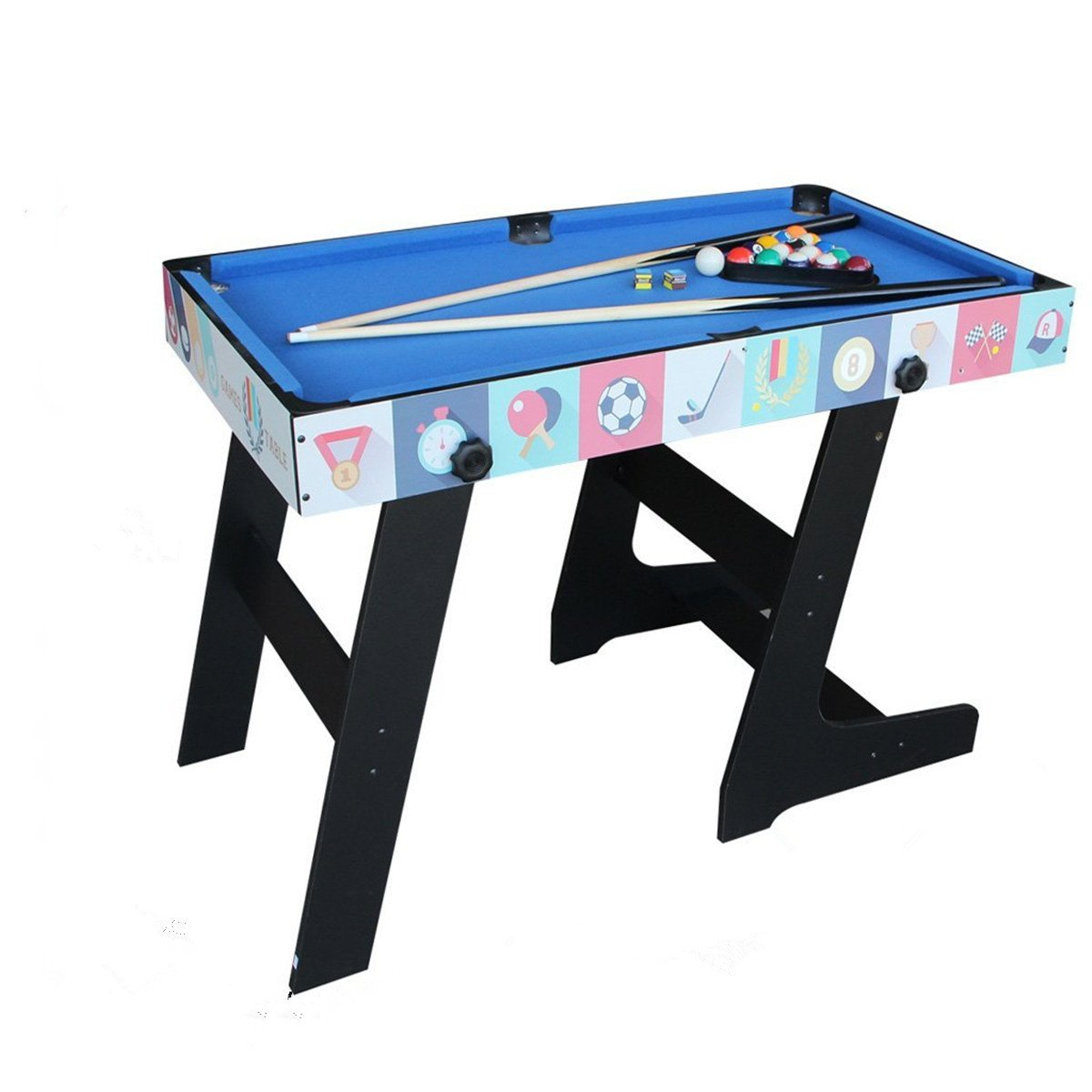 Deluxe 5 in 1 Top Game Table Folding Table-Table Tennis,Glide Hockey,Chess,Pool,Basketball Set by QYBK (Image #4)