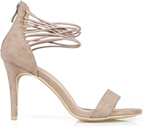034241df859 Hotsoles Hound Stiletto Women s High Heel Sandals in Taupe