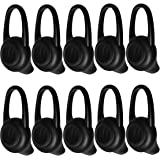 Ear Tips Soft Replacement Silicone Gel Cover Pads 10 PCS for Bluetooth Headset Earbuds Earphones Earpiece - Black
