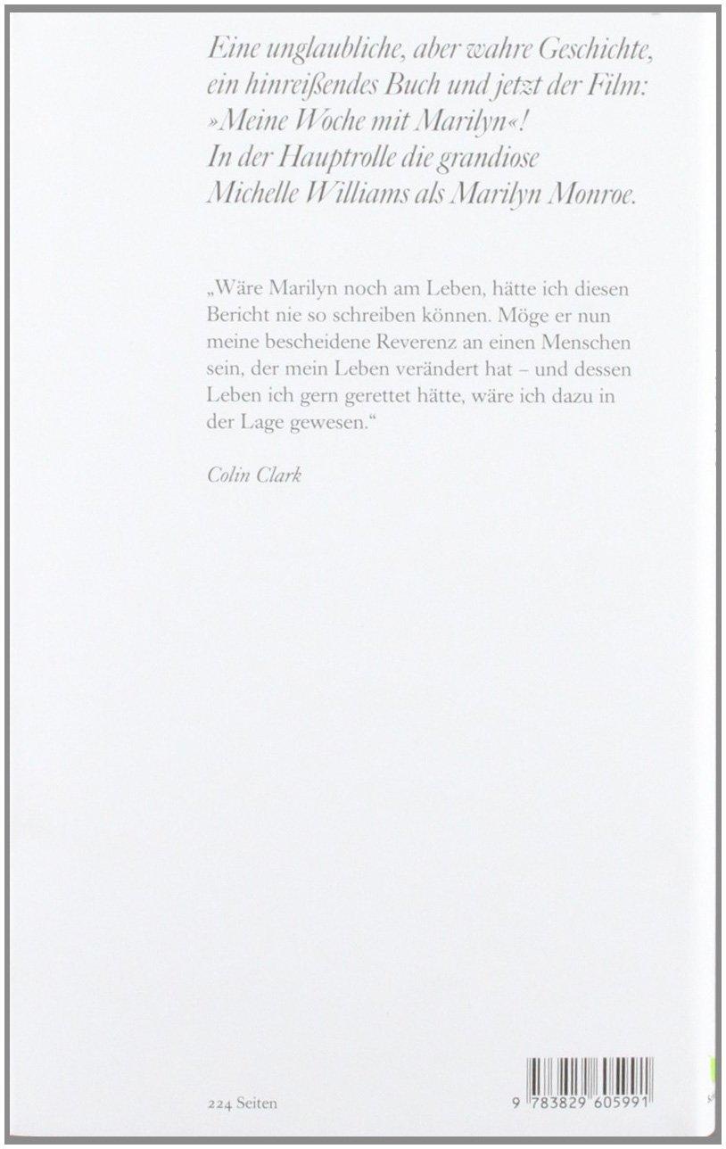 Meine Woche mit Marilyn: Das Buch zum Film: Amazon.de: Colin Clark ...