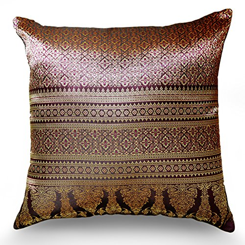 Handmade Throw Pillow Covers Art Decorative Thai ()
