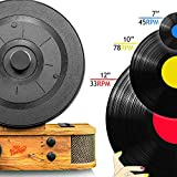 Pyle Vintage Classic Style Bluetooth Turntable - Vertical/Standing Record Player Speaker System (PLTT21BT)
