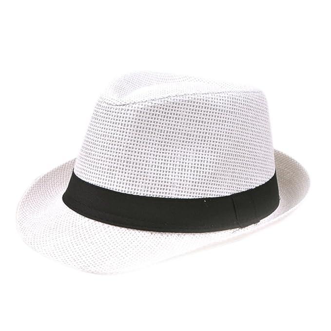 Westeng - Cappello Panama - Uomo bianco White Taglia unica  Amazon.it   Abbigliamento 9cfd268e72fa