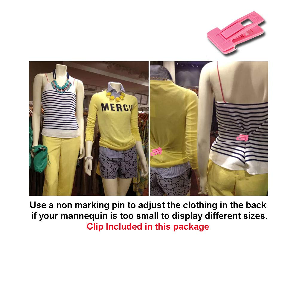 Dress Form Hollow Back Body or Tshirt Display S-M Sizes. w//Economic Plastic Stand for Counter or Hanging by EZ-Mannequins Temporal Photos or Design Easy to Assemble and Store Male Mannequin Torso