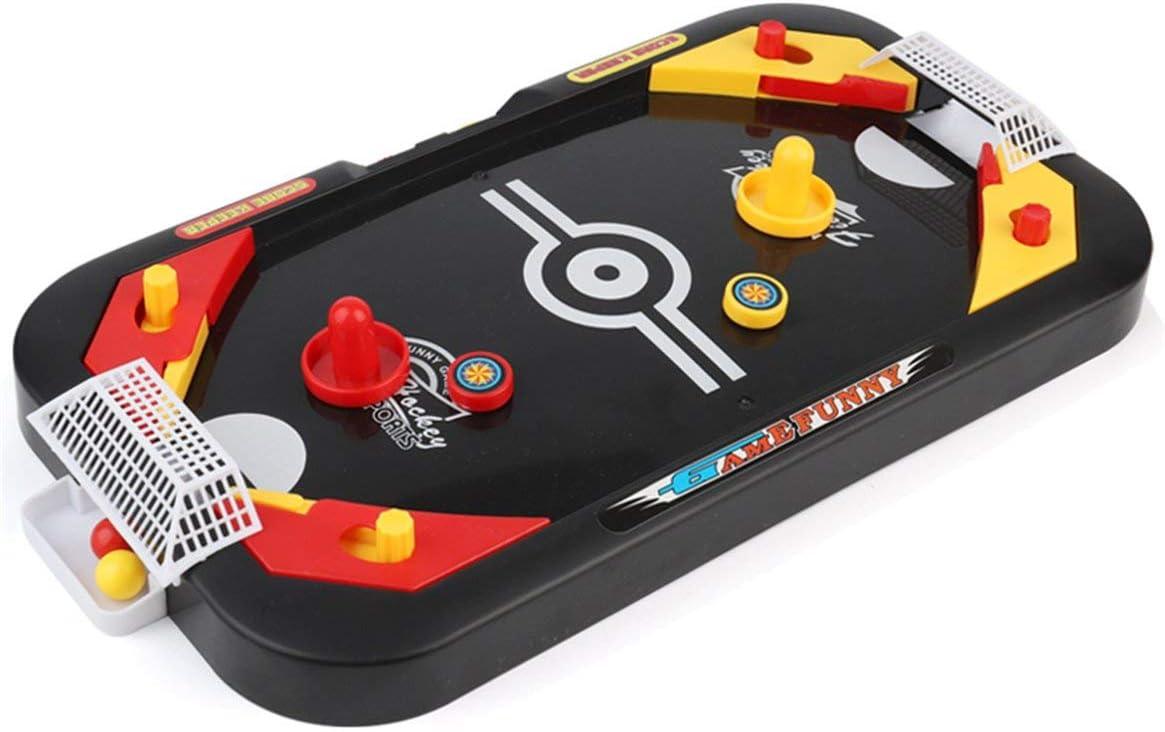 Kongqiabona-UK 2 en 1 Juego de Mesa de Hockey sobre Hielo Juego competitivo Mini Mesa de fútbol Juguetes educativos interactivos para Padres e Hijos: Amazon.es: Hogar
