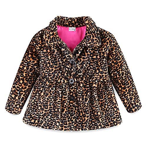 Mud Kingdom Little Girl Fleece Jacket Coat Leopard Yellow Size 5 -