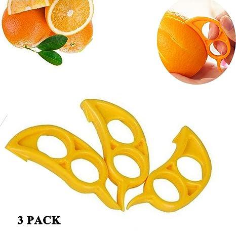 mirokor 3 pc portátil naranja abridor Peeler Rebanadora Cortador plástico Limón Citrus – tamaño de bolsillo